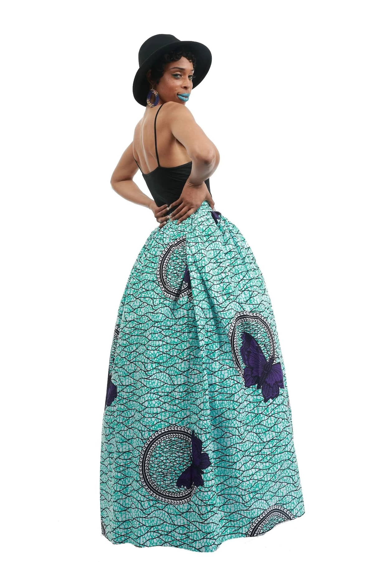 Latest Ankara styles for ladies- Maxi skirt