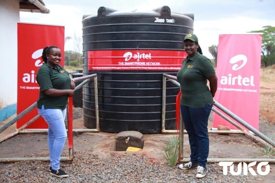 Airtel gifts thirsting Tsavo community with water tanks
