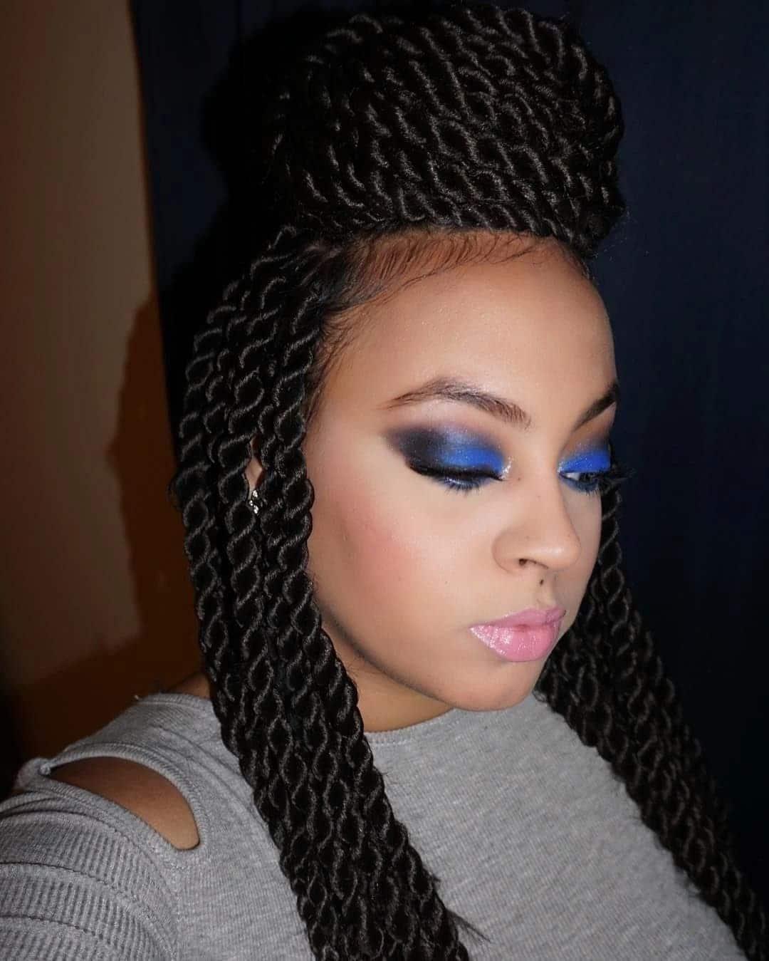 Long kinky twist hairstyles with extensions Tuko.co.ke