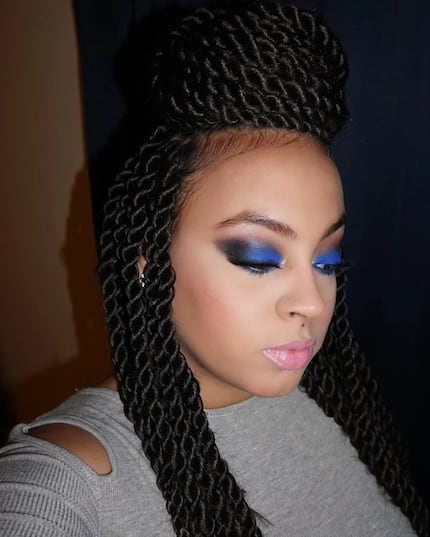 Long kinky twist hairstyles with extensions