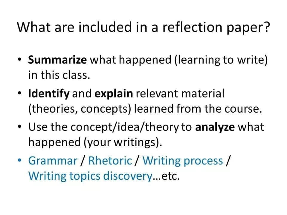 Format of reflection paper Example of a reflection paper Tips on writing a good reflection paper Reflection paper ideas
