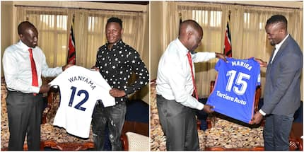 9 photo's of Victor Wanyama and brother Mariga hanging out with DP Ruto