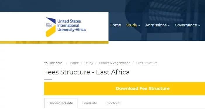 USIU Kenya fees