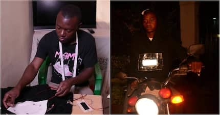 Meet Kenyatta University student who invented LED hoodie fitted with metal detector and charging port