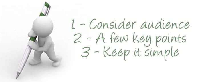 Tips to writing a good speech