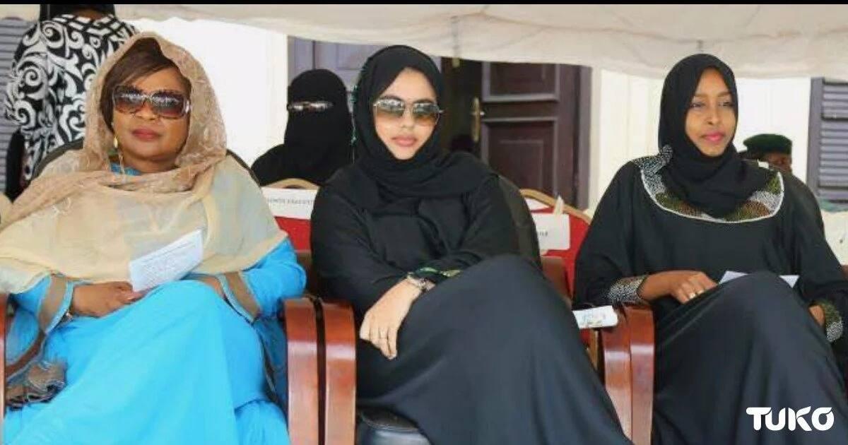 Madina Joho with Mombasa Deputy Governor Hazel Katana and Asli Osman (without glasses) the wife Senator Hassan Omar.