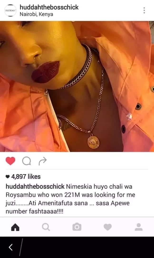 221Million Sportpesa Jackpot Winner Abisai in DANGER as city socialite sets her eyes on him