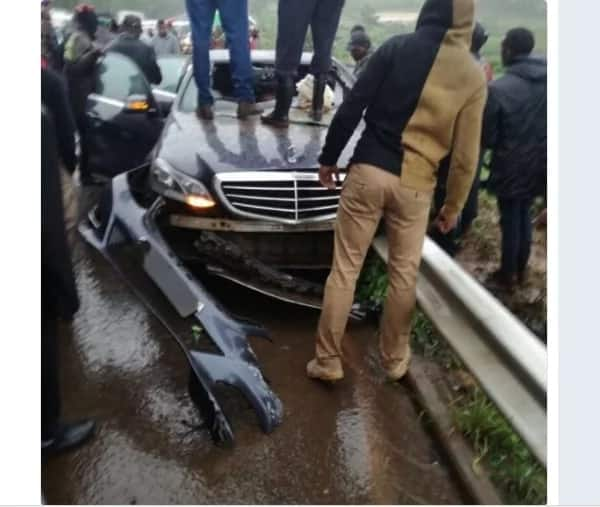 Nyeri Governor rushed to hospital following freak road accident in Murang'a