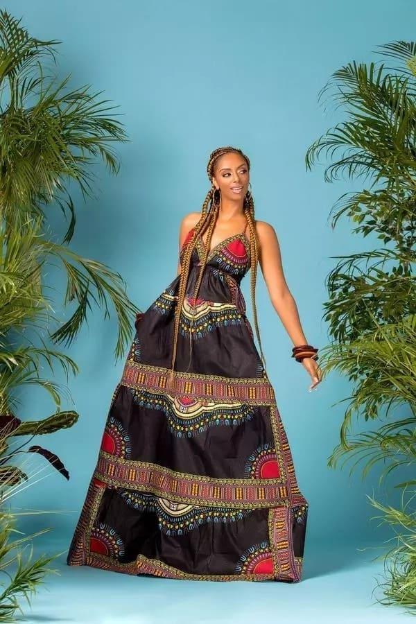 Black dashiki dress designs