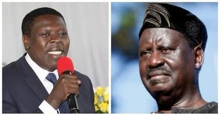 You forgot to address me as Your Excellency - Raila tells CS Wamalwa at Yvonne's funeral service