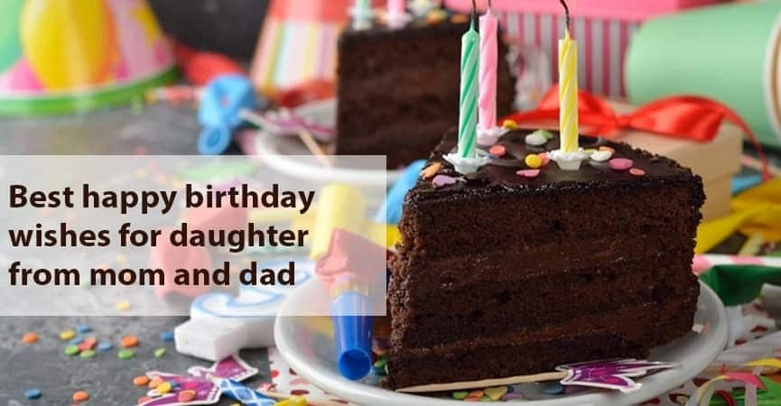 Best Happy Birthday Wishes For Daughter From Mom And Dad Tukocoke