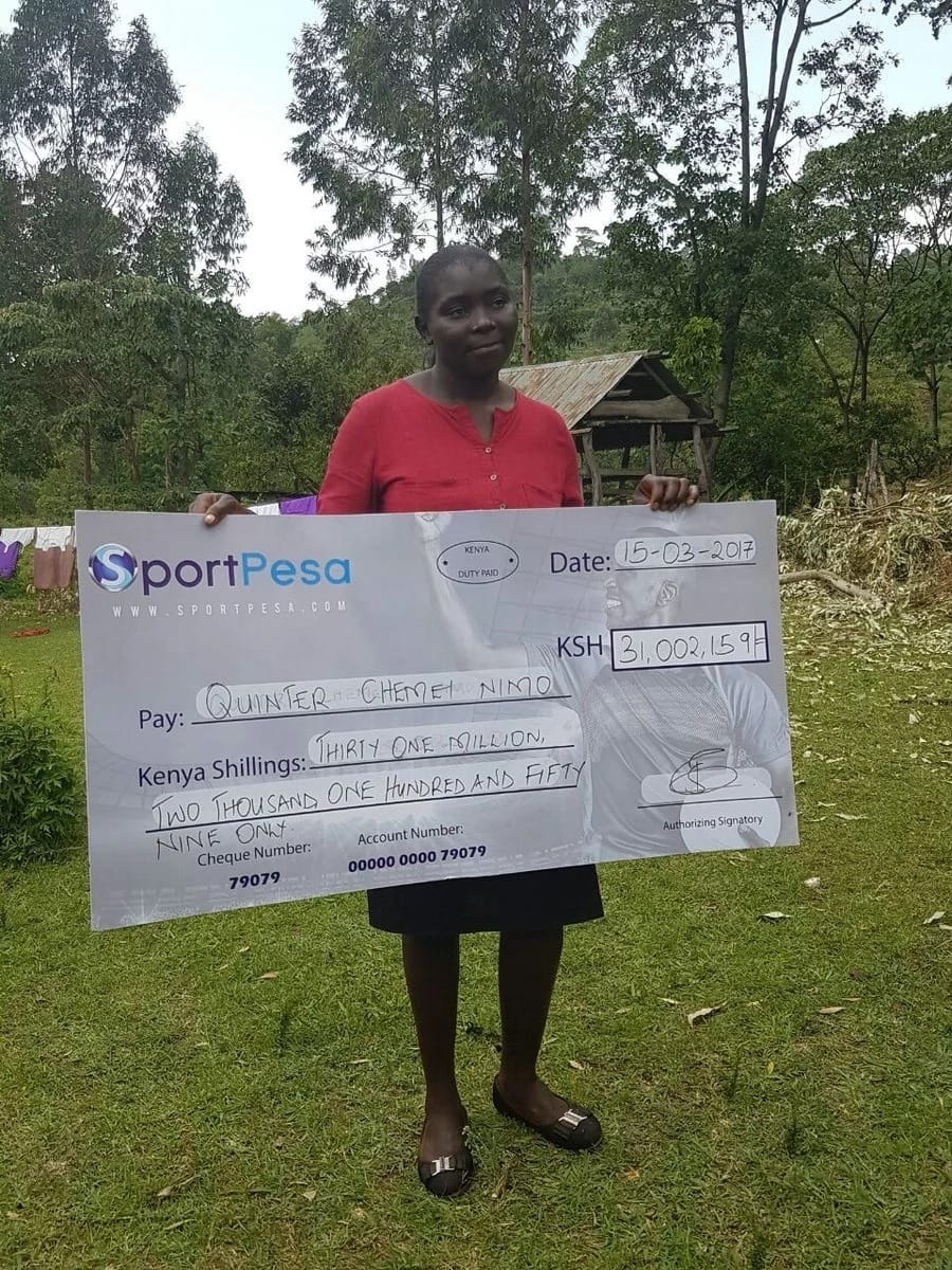 Bungoma county mother of two wins KSh 31 million from SportPesa (Photos)