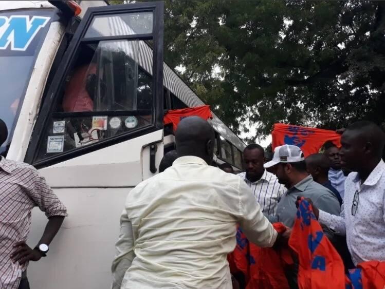 NASA convoy leaves Mombasa for Nairobi to attend Raila swearing-in