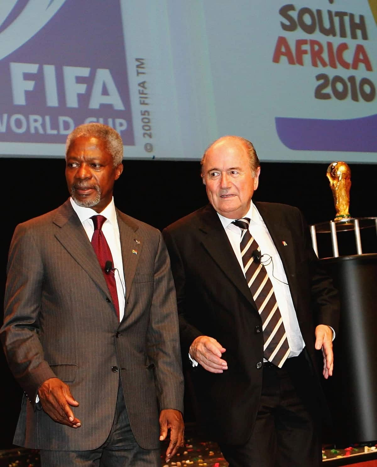 Former UN secretary general Kofi Annan was passionate about football, played on the right wing