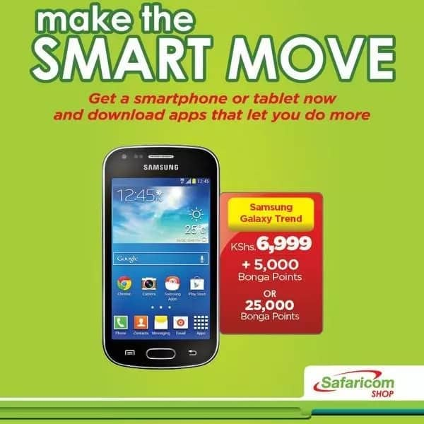 Safaricom Bonga points: phones on offer and other goodies from Safaricom