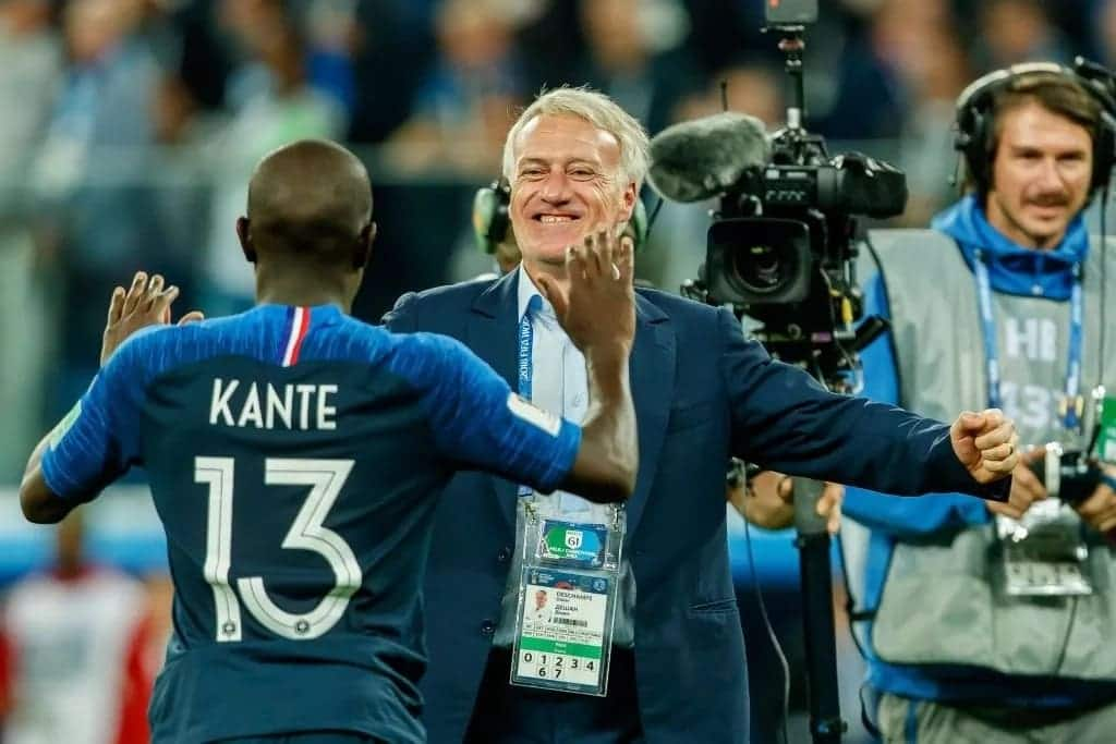 Didier Deschamps forgives humble N'Golo Kante after arriving late for Les Blues training