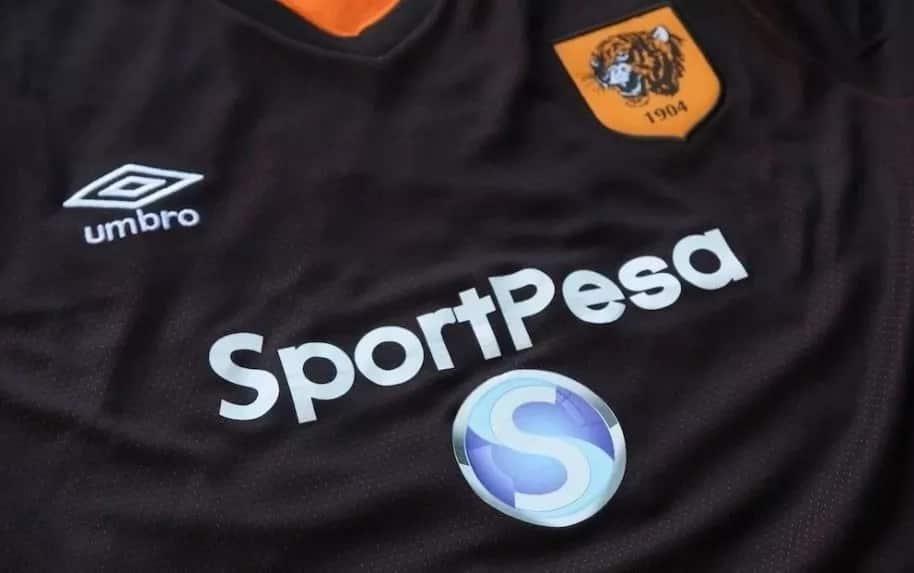 sportpesa logo on T-shirt