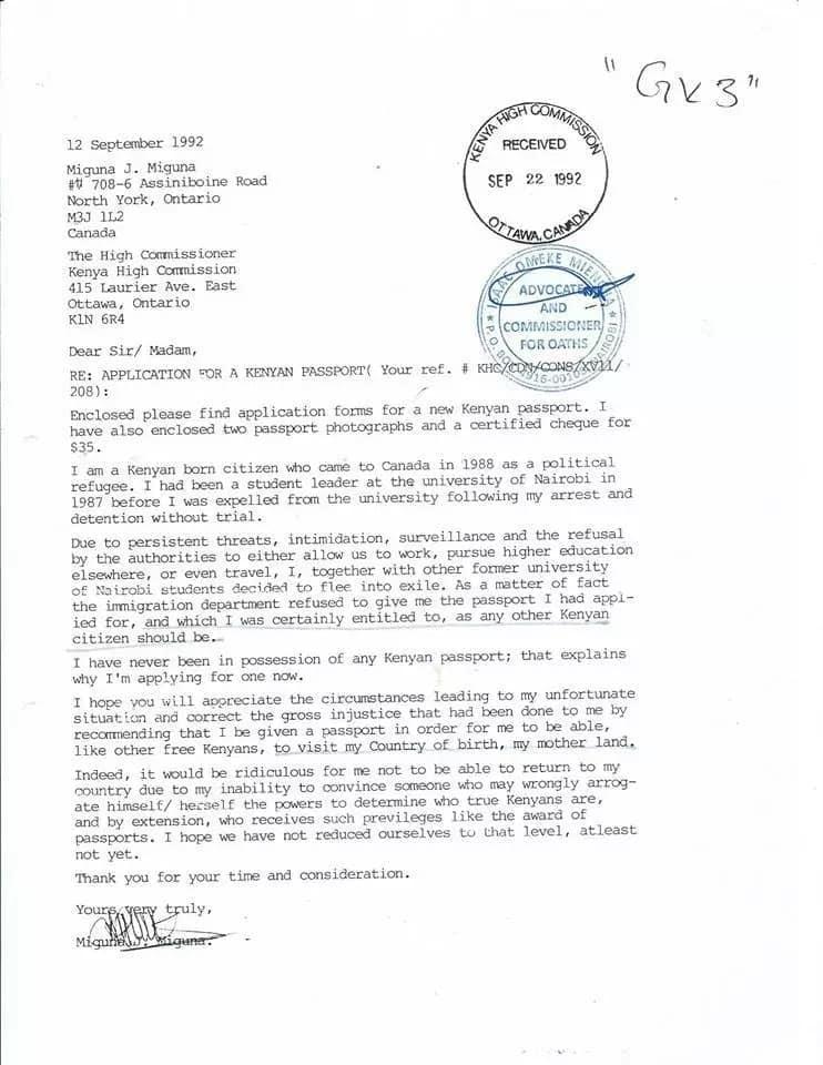 Immigration department says Miguna Miguna is not a Kenyan citizen and has an illegal Kenyan passport