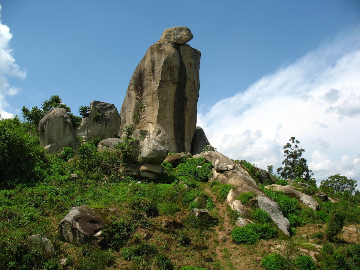 Largest county in Kenya in population, productivity & wealth- The crying stone of Illesi situated along the Kisumu- Kakamega highway)