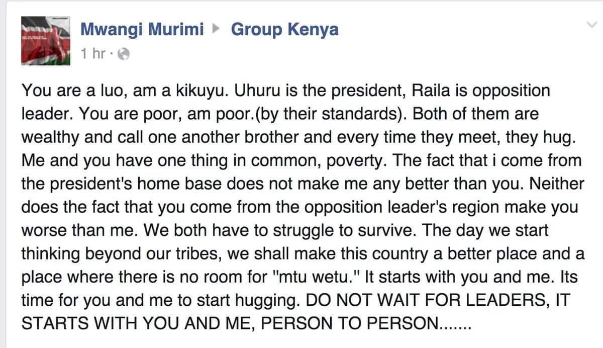 Causes of tribalism in Kenya