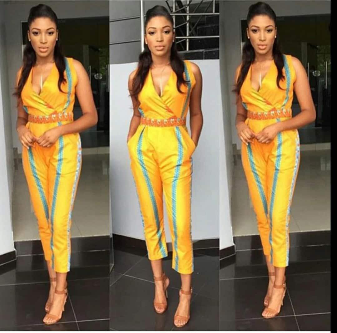 1327f21396c Fashionable African print jumpsuit designs ▷ Tuko.co.ke