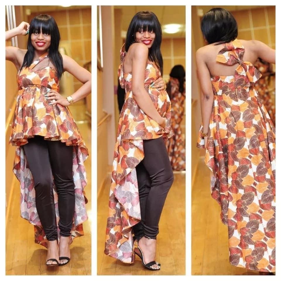 Kitenge pregnancy dress designs 2018