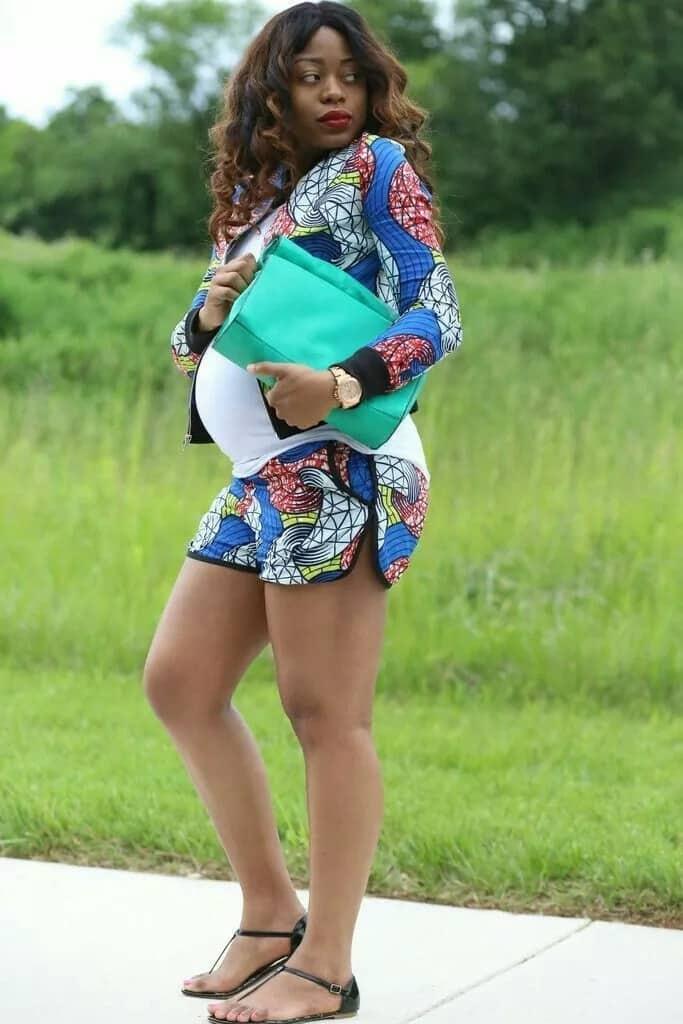 Kitenge jacket designs for pregnant women