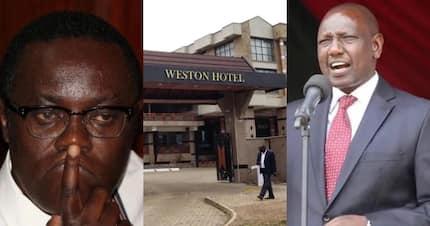 """Kaa kimya kabisa- Ngunyi amwambia Ruto kuhusu """"kubomolewa"""" kwa hoteli ya Weston"""