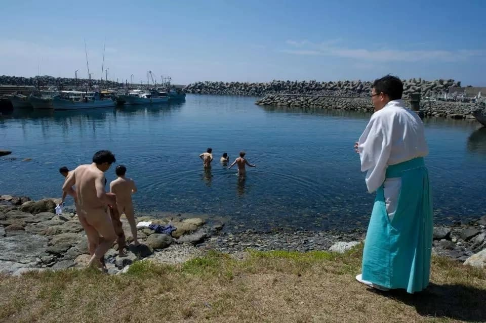 Sacred Island where women are banned and men have to strip naked on arrival