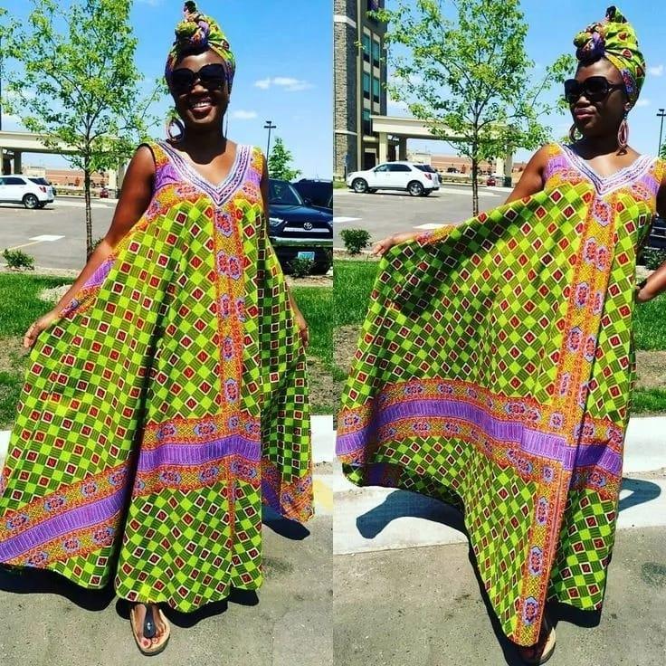 Latest kitenge gown designs