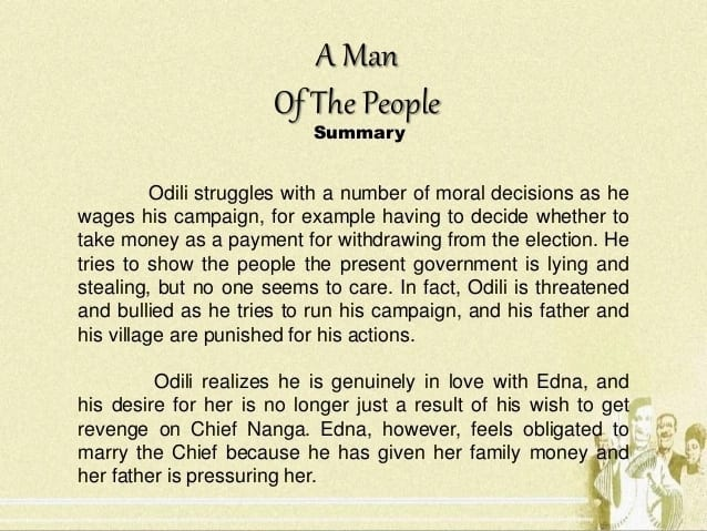 """""""A man of the people"""" Chinua Achebe quotes"""