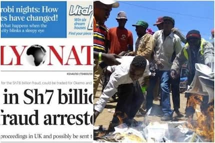 Nation newspapers burnt in Meru after publishing this story (photo)
