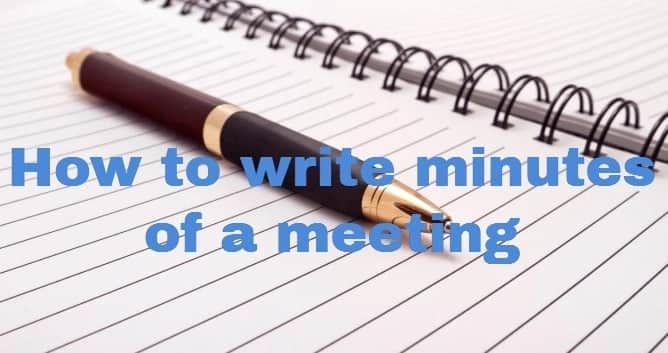 How to write minutes of a meeting ▷ Tuko co ke
