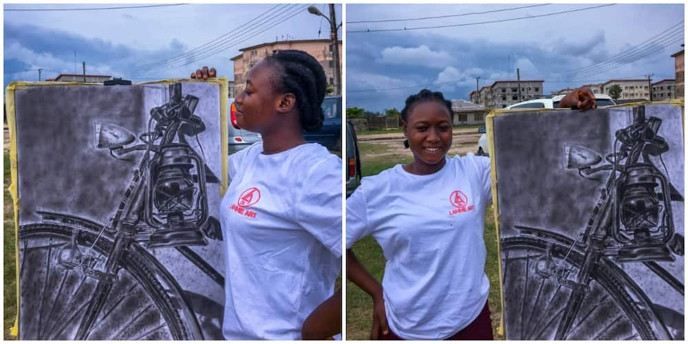 Proud brother showcases sister's beautiful artworks, pleads for buyers, social media reacts
