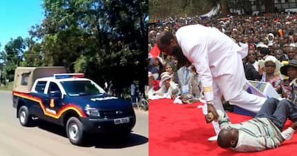 Four police vehicles detained for being part of controversial Prophet David Owuor's convoy