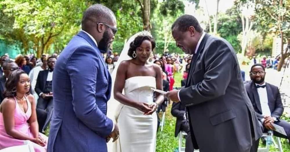 Uhuru Sends Ruto to Congratulate June, Nigerian Hubby on Their Wedding, Promises to Visit