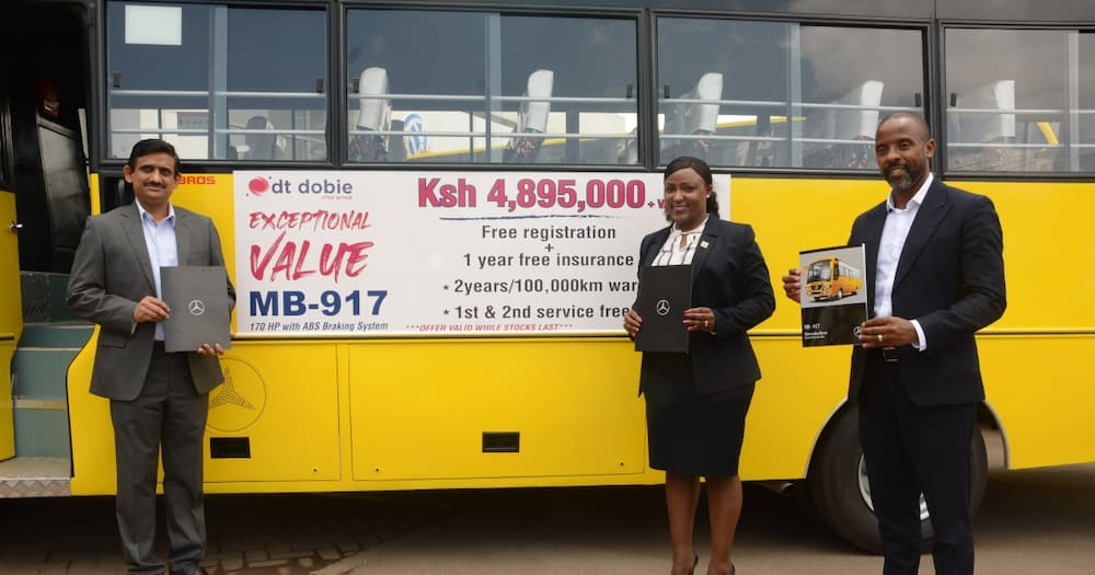 DT Dobie, Co-op Bank announce KSh 1bn leasing deal for Mercedes Benz buses