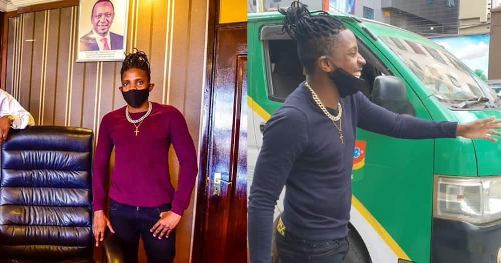 Journalist's hubby angry after video of wife thirsting over Eric Omondi's chiseled body emerged