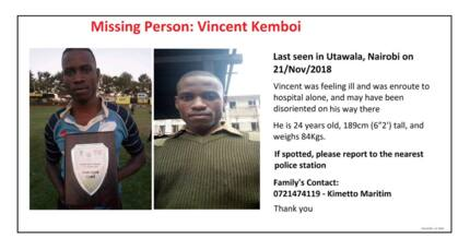 Nairobi police officer vanishes on his way to hospital