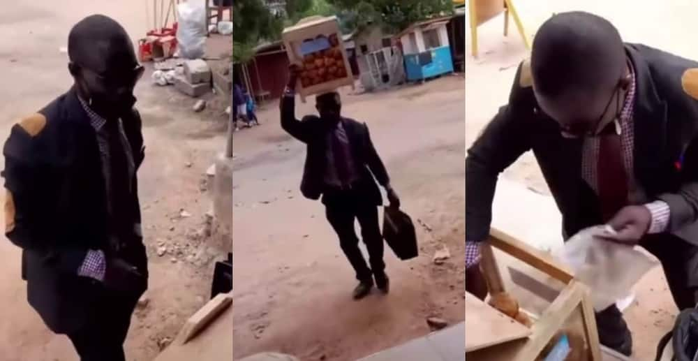 Meet the man who wears suit and tie along with briefcase to sell bofrot