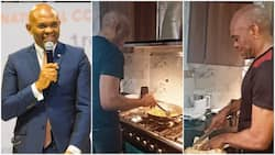 Billionaire Tony Elumelu Enters Kitchen to Cook Yam, Sauce for Himself, His Video Wows Many Netizens