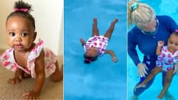 10-Month-Old Baby Girl Plunges Into Water in Scuba-Diver-Like Fashion, Swims Like a Dolphin