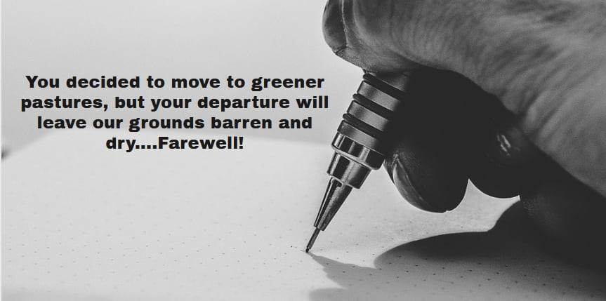 farewell message sample, farewell messages, goodbye and goodluck messages