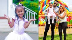 DJ Mo, Size 8 Shower Firstborn Daughter with Praises as She Graduates from Nursery to Grade II