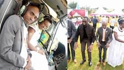 Uasin Gishu Tycoon Buzeki Treats Newlywed Couple to Chopper Ride During Wedding