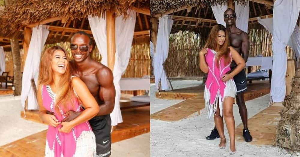 Julie Gichuru, heavily built husband mark 22 years of love