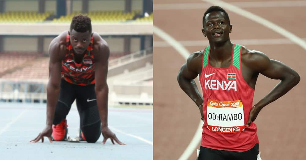 Mark Otieno for Team Kenya.