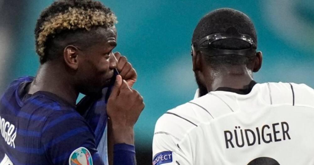 Chelsea's Antonio Rudiger Bites Paul Pogba During Tense Euro 2020 Clash