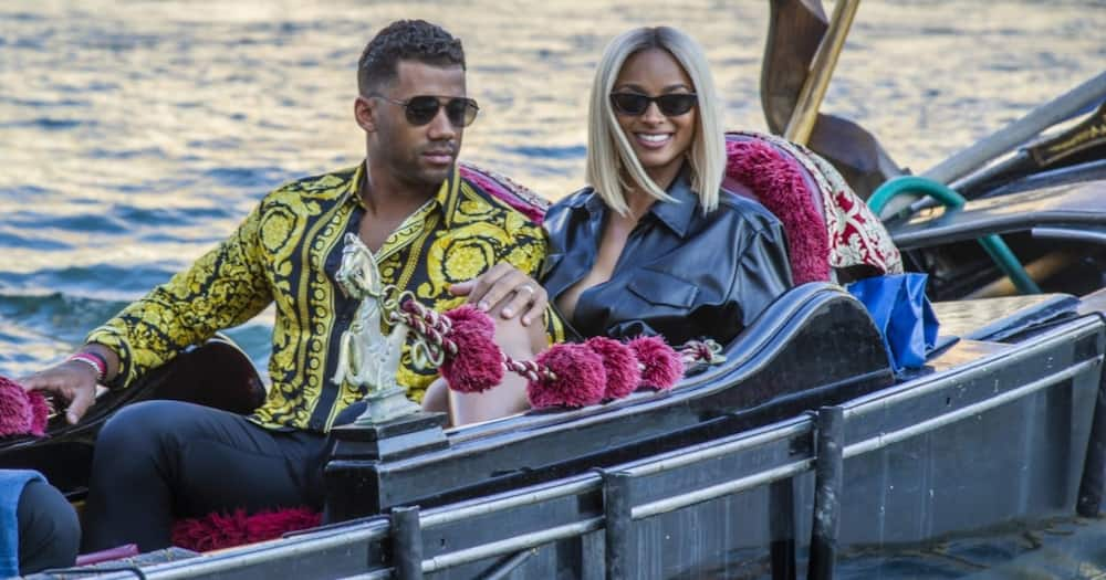 Ciara and her hubby while celebrating their fifth anniversary in Venice. Photo: Getty Images.