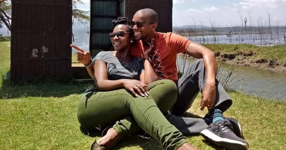 Waihiga Mwaura shares photos presenting news from home with wife Joyce Omondi as director